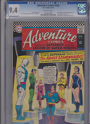Adventure comics  #354     CGC     9.4    1st App. Adult Legionnaries - ComicBookKeys