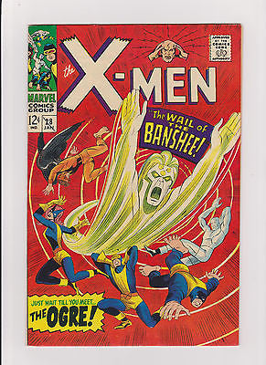 X-men    #28    High Grade   1st  App.  Banshee - ComicBookKeys