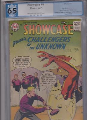 Showcase Comics #6   PGX 6.5   OW to W    1st Challengers of the Unknown - ComicBookKeys