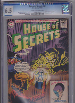 House of Secrets   #61  CGC  6.5  C-OW:  1963 - ComicBookKeys