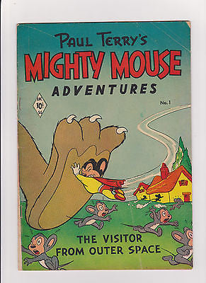 Paul Terry's Mighty Mouse Adventures  #1    Low Grade    St.John/ANC - ComicBookKeys