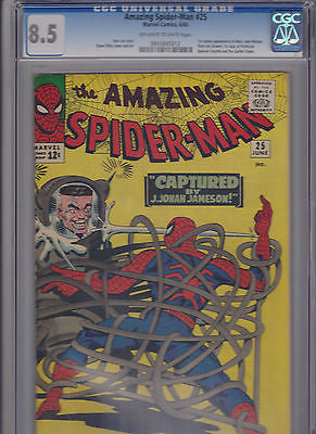 The Amazing Spider-man   25   CGC   8.5  1st MJ, Spencer Smith, NO appears - ComicBookKeys