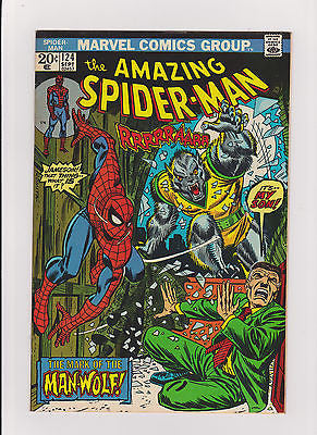 The Amazing Spider-man   #124   High Grade   1973  1st App  Man-Wolf - ComicBookKeys