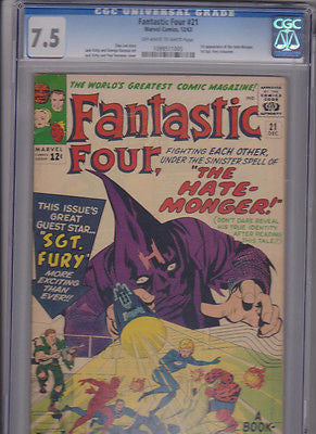 Fantastic  Four  #21  CGC  7.5   OW-W:  1963 - ComicBookKeys