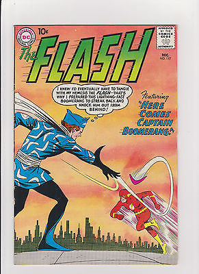 Flash  #117  Complete/Attached/No Restoration  1st Capt. Boomerang  MidGrade++ - ComicBookKeys