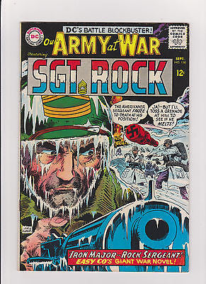 Our Army at War   #158      High Grade-     1965    1st App.  Iron Major - ComicBookKeys