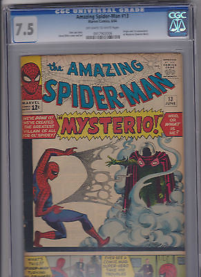The Amazing Spider-man   13     CGC    7.5   Ow-W - ComicBookKeys