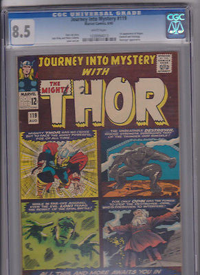 Journey Into Mystery   #119   CGC  8.5    White:    1965 - ComicBookKeys