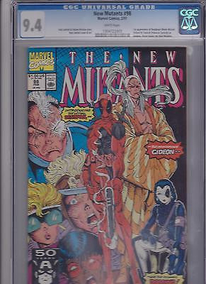 "The New Mutants  #98  CGC   9.4   ""White"" - ComicBookKeys"