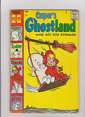 Casper's Ghostland   #1     Midgrade       Giant Size Harvey Comics - ComicBookKeys