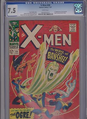"X-men     #28    CGC    7.5    ""White"" - ComicBookKeys"