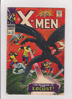 X-men        #24   Midgrade to Lower    1966    1st App.  Locust - ComicBookKeys