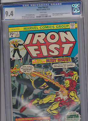 "Iron Fist  #1   CGC     9.4     ""White"" - ComicBookKeys"