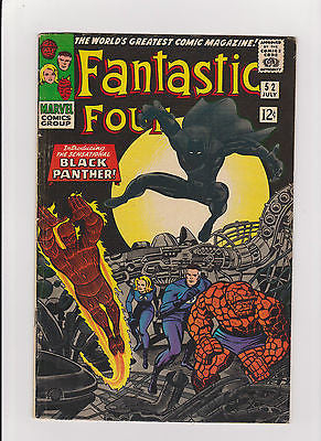 Fantastic Four     #52    1st  App. Black Panther    MidGrade - ComicBookKeys