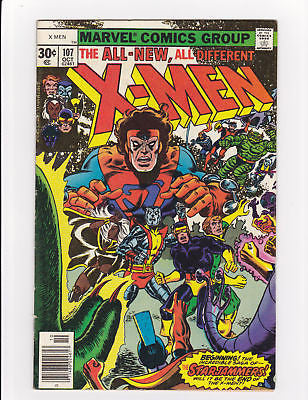 X-Men #107  1st Full StarJammers  VF- 7.5 - ComicBookKeys
