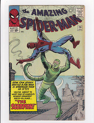 The Amazing Spider-man #20  1st Scorpion    7.0/F- - ComicBookKeys