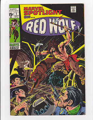 Marvel Spotlight #1 Red Wolf  Nov, 1971  F/VF+ 7.25 - ComicBookKeys