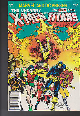 "Marvel and DC  Present  X-men and The New Teen Titans  #1    ""High Grade"" - ComicBookKeys"