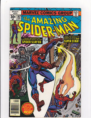 Amazing Spiderman #167 1st Will O' the Wisp  6.5/Fine+ - ComicBookKeys
