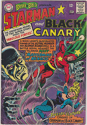 Brave and the Bold   #61  Origin Starman and Black Canary   Mid to Higher Grade - ComicBookKeys