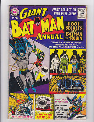 Batman Annual  #1  1961  Print  Fine-  5.5 - ComicBookKeys