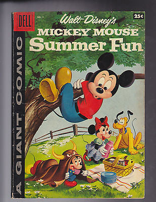 Mickey Mouse Summer Fun  #1     1958    Fine   6.0 - ComicBookKeys