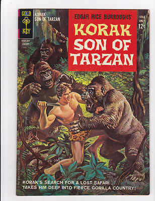 Korak Son of Thunder #1  Jan, 1964 Gold Key  VF  8.0 - ComicBookKeys