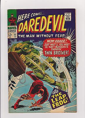Daredevil  #25   Midgrade-   to  lower    1st  Leapfrog - ComicBookKeys