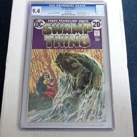 "Swamp Thing     #1.     CGC.    ""White""      9.4 - ComicBookKeys"