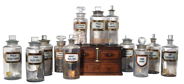Apothecary Jars - Tonkin of Nantucket - English and French Antique Furniture and Accessories