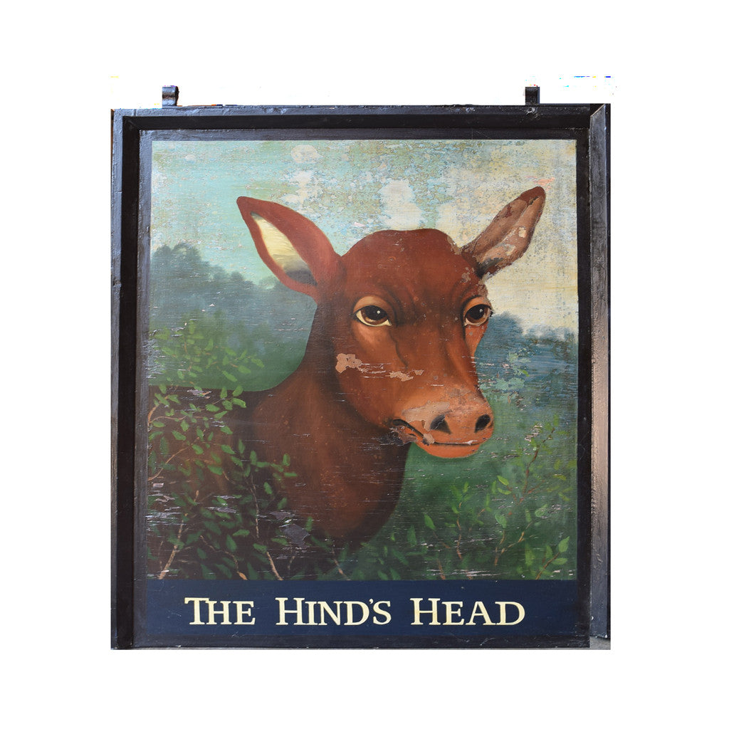 The Hind's Head English Pub Sign L-162 - Tonkin of Nantucket - English and French Antique Furniture and Accessories