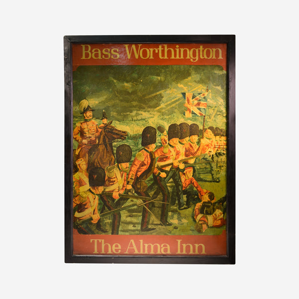 Bass Worthington - The Alma Inn - English Pub Sign U-13 - Tonkin of Nantucket - English and French Antique Furniture and Accessories