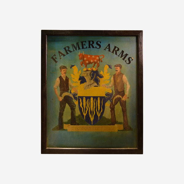 Farmers Arms English Pub Sign U-OO7 - Tonkin of Nantucket - English and French Antique Furniture and Accessories