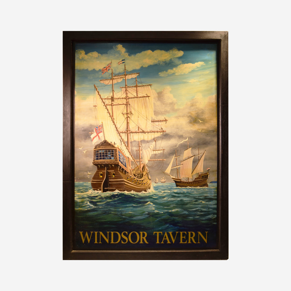 Windsor Tavern English Pub Sign R-92 - Tonkin of Nantucket - English and French Antique Furniture and Accessories
