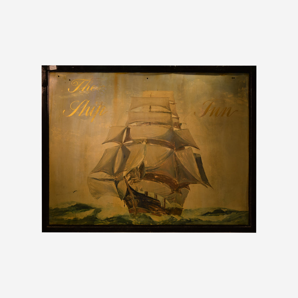 The Ship Inn English Pub Sign V-025 - Tonkin of Nantucket - English and French Antique Furniture and Accessories
