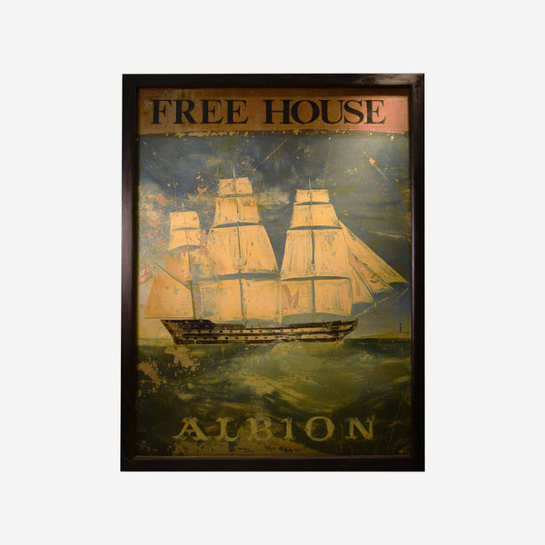 Albion English Pub Sign V-2015 - Tonkin of Nantucket - English and French Antique Furniture and Accessories