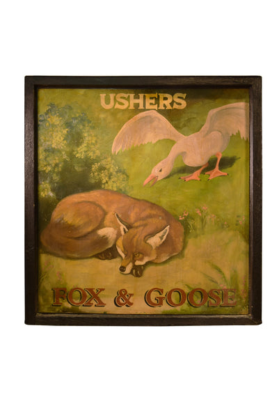 Fox and Goose English Pub Sign T-17 - Tonkin of Nantucket - English and French Antique Furniture and Accessories