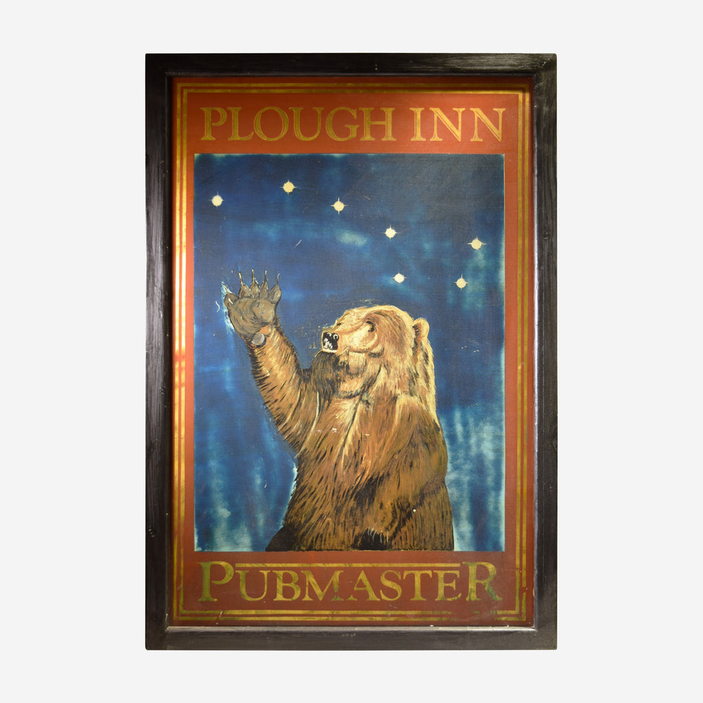 Pub Master Plough Inn Bear English Pub Sign T-03 - Tonkin of Nantucket - English and French Antique Furniture and Accessories