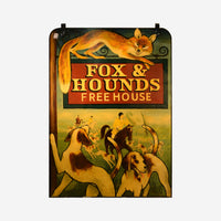 "Fox and Hound- ""Free House"" - Tonkin of Nantucket - English and French Antique Furniture and Accessories"