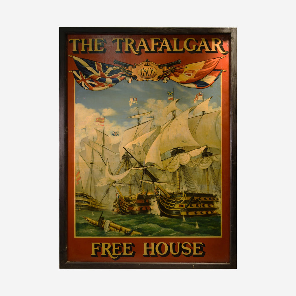 The Trafalgar - Free House English Pub Sign S-03 - Tonkin of Nantucket - English and French Antique Furniture and Accessories