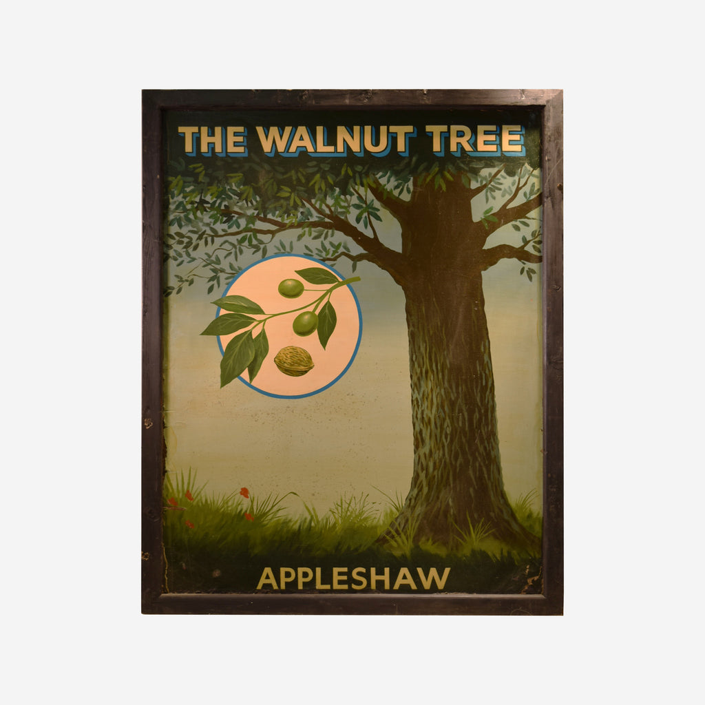 The Walnut Tree Appleshaw English Pub Sign S-112 - Tonkin of Nantucket - English and French Antique Furniture and Accessories
