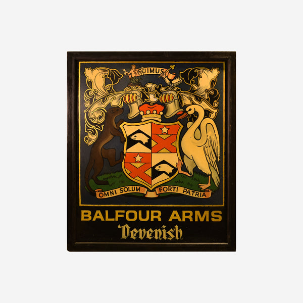 Balfour Arms Devenish English Pub Sign - Tonkin of Nantucket - English and French Antique Furniture and Accessories