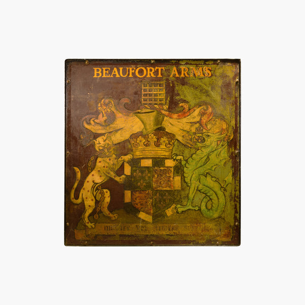 Beau Fort Arms English Pub Sign - Tonkin of Nantucket - English and French Antique Furniture and Accessories