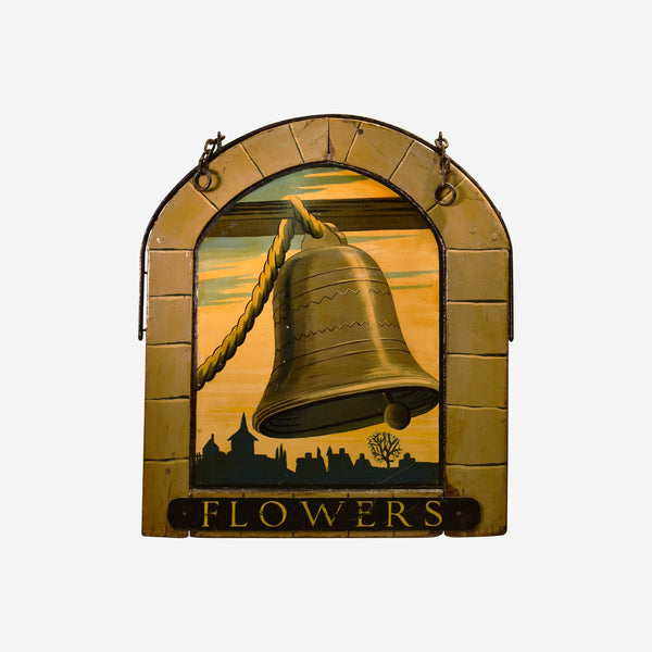 Flowers English Pub Sign R-14 - Tonkin of Nantucket - English and French Antique Furniture and Accessories