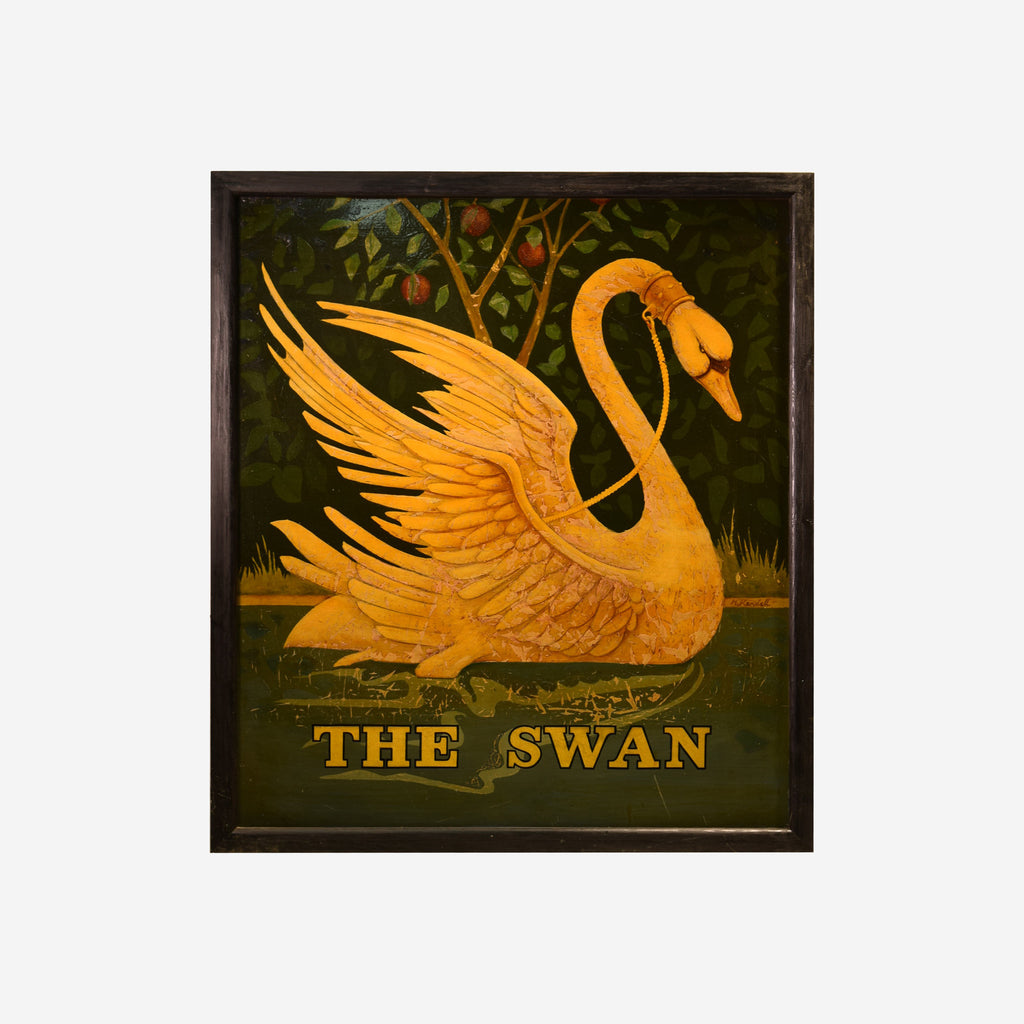 The Swan English Pub Sign R-17 (SOLD) - Tonkin of Nantucket - English and French Antique Furniture and Accessories