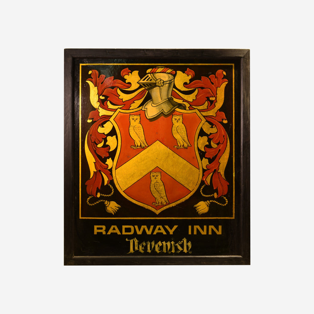 Radway Inn English Pub Sign R-03 - Tonkin of Nantucket - English and French Antique Furniture and Accessories