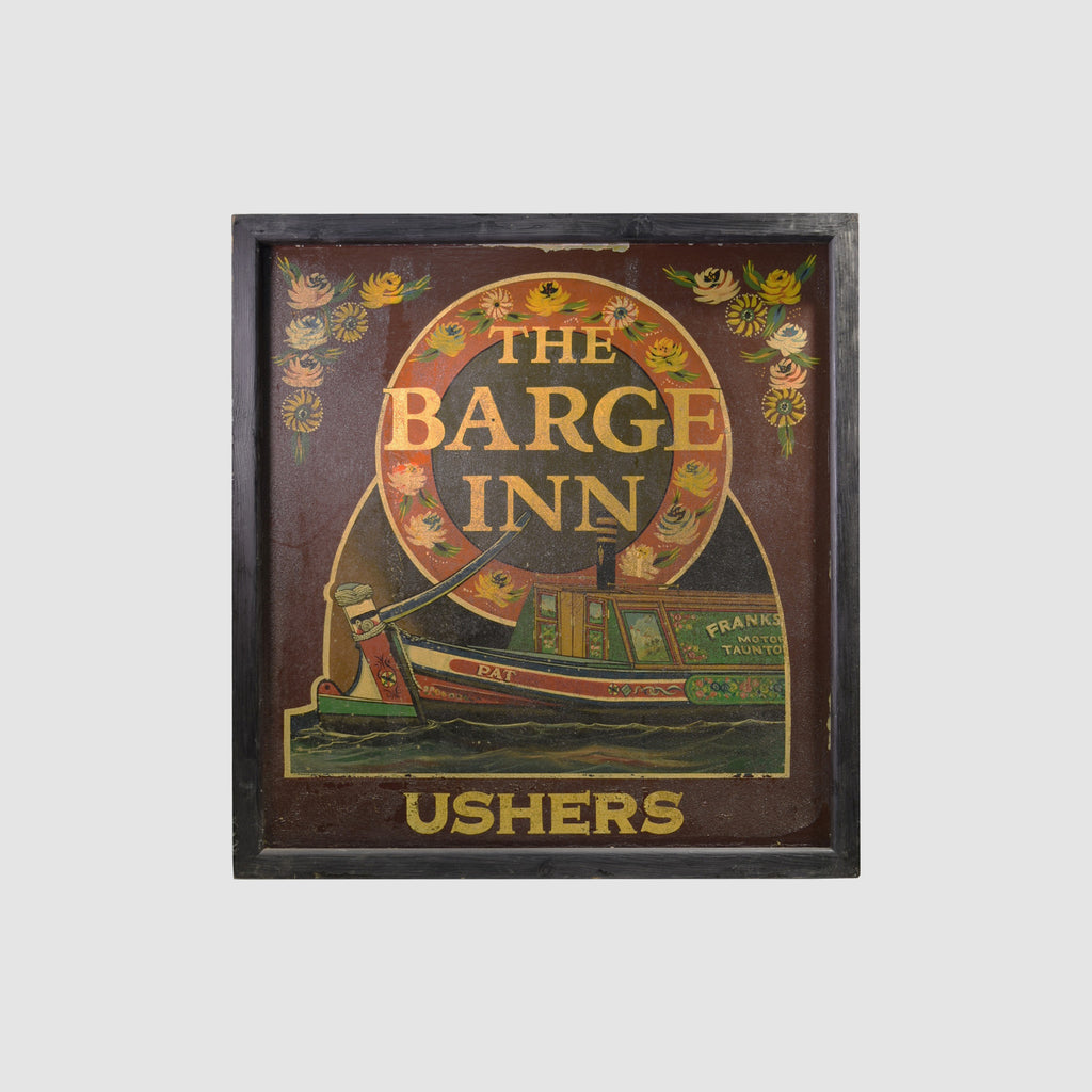 The Barge Inn - Ushers English Pub Sign R-07 - Tonkin of Nantucket - English and French Antique Furniture and Accessories