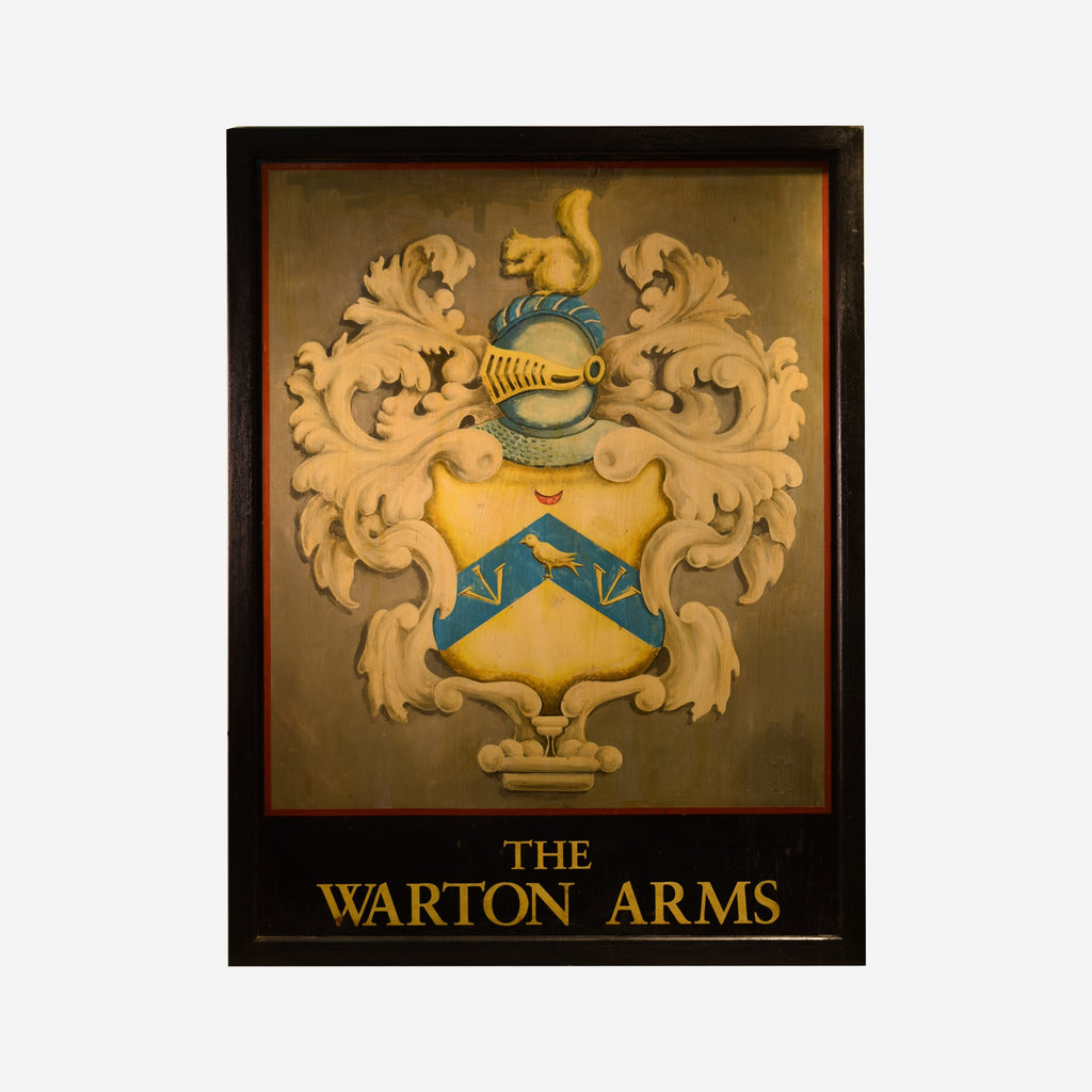 The Warton Arms English Pub Sign R-32 - Tonkin of Nantucket - English and French Antique Furniture and Accessories