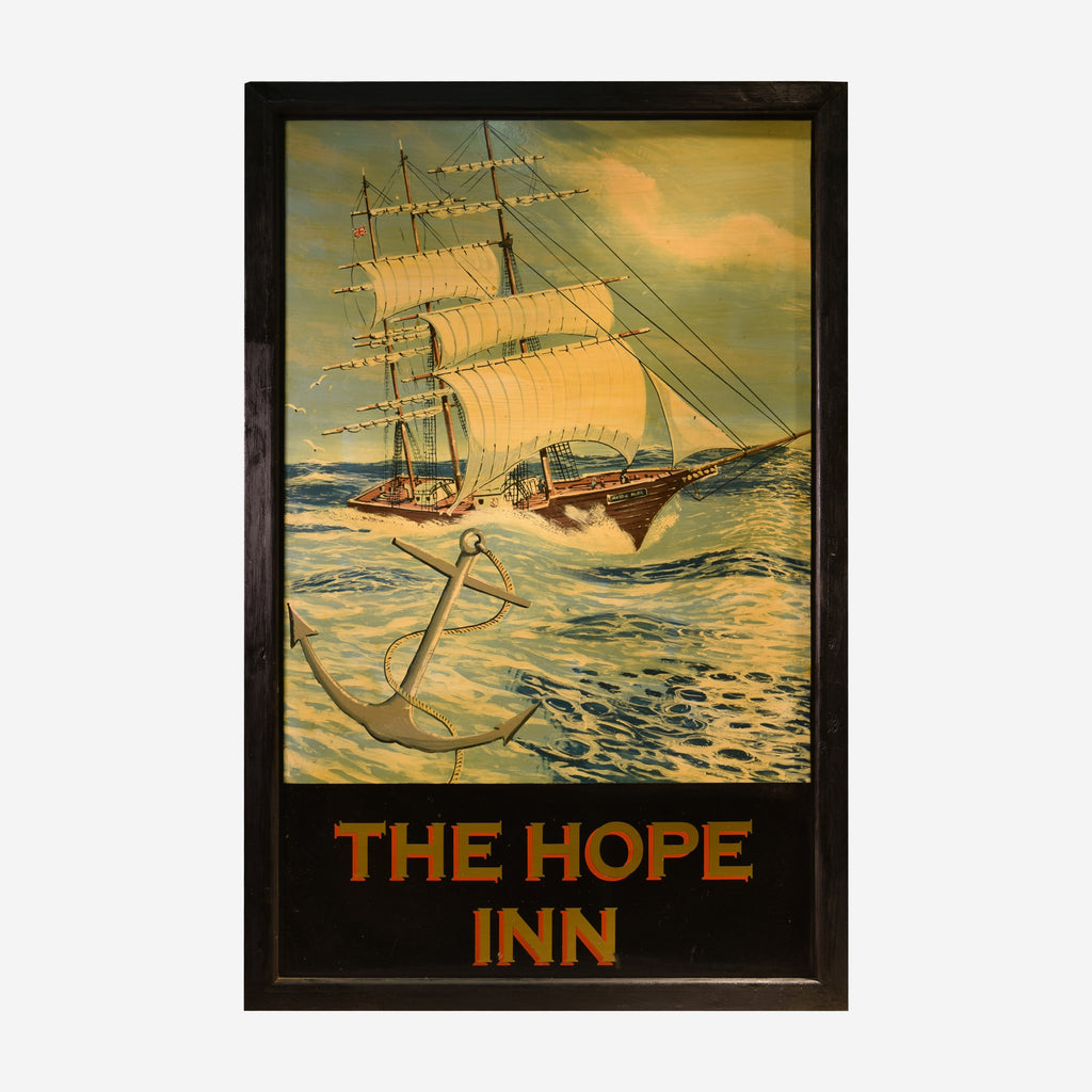 The Hope Inn English Pub Sign R-34 - Tonkin of Nantucket - English and French Antique Furniture and Accessories