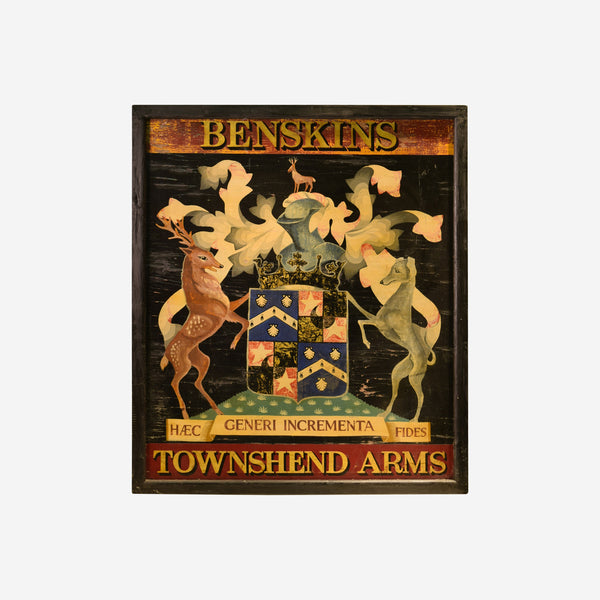 Benskins Townshend Arms English Pub Sign Q-14 - Tonkin of Nantucket - English and French Antique Furniture and Accessories